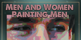 men and women painting men